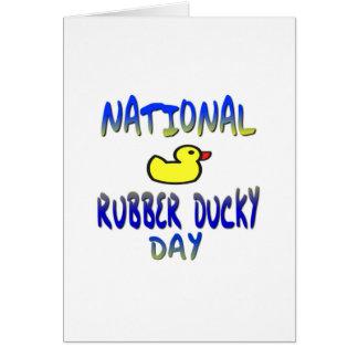 Día Ducky de goma nacional Tarjeta De Felicitación