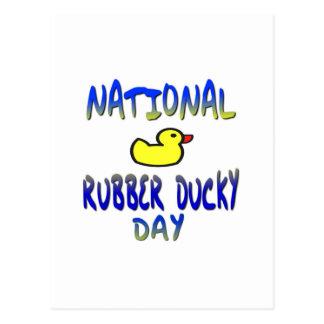 Día Ducky de goma nacional Tarjetas Postales