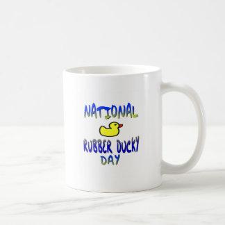 Día Ducky de goma nacional Taza