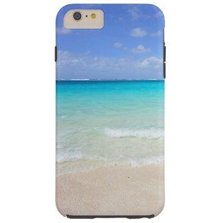 Día en el caso tropical del iPhone 6 de la playa Funda Para iPhone 6 Plus Tough