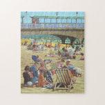 día en la pintura de la playa de Bournemouth Rompecabeza