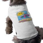 Día en la playa camiseta de perro