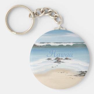 día en la playa-Hawaii Llavero Redondo Tipo Pin
