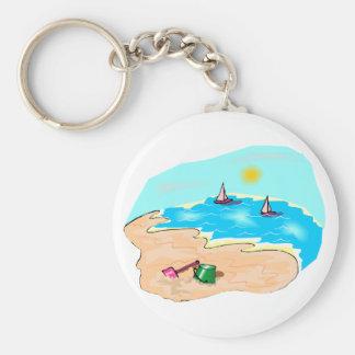 Día en la playa llavero personalizado