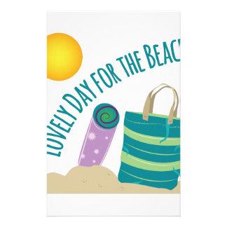 Día en la playa personalized stationery