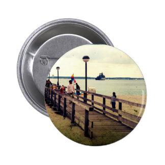 Día en la playa pin redondo 5 cm