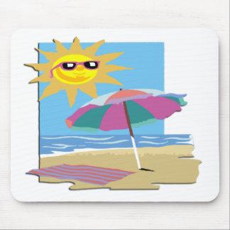 Día en la playa tapetes de ratón
