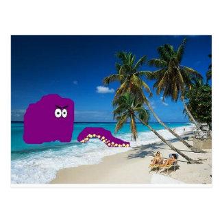 Día en la playa postal