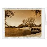 día en la tarjeta del parque (en tonos de oro)