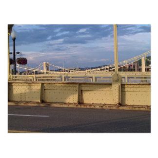 Día en parte nublado sobre los tres puentes de las postales