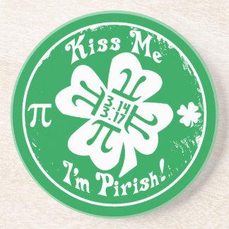 Día épico del pi y el día 2 de St Patrick en 1 Posavasos Manualidades
