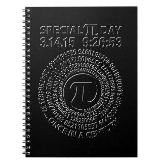 Día especial 2015, espiral del pi libretas espirales