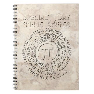 Día especial 2015, espiral del pi cuaderno
