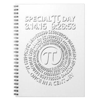 Día especial 2015, espiral del pi libreta