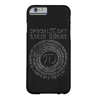 Día especial 2015, espiral del pi funda para iPhone 6 barely there