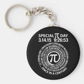 Día especial 2015, espiral del pi llavero personalizado