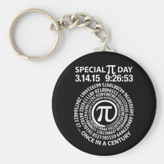 Día especial 2015, espiral del pi llavero redondo tipo pin