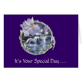 Día especial tarjeta de felicitación