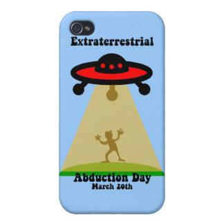 Día extraterrestre de la abducción iPhone 4 funda