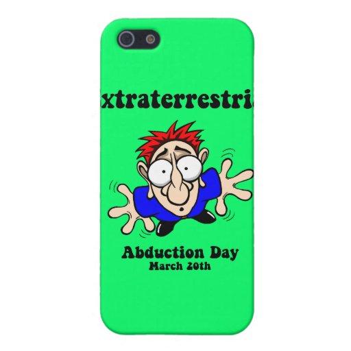Día extraterrestre de la abducción iPhone 5 carcasas