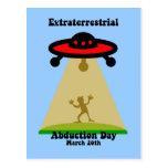 Día extraterrestre de la abducción postal