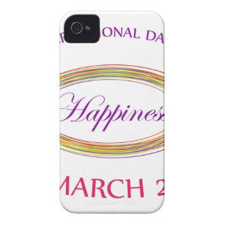 Día felicidad día del 20 de marzo conmemorativo iPhone 4 Case-Mate carcasas