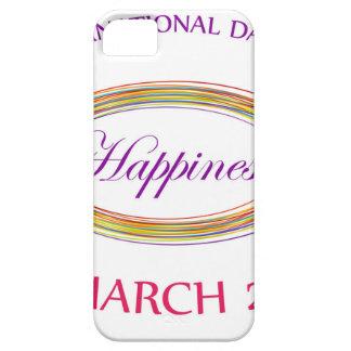 Día felicidad día del 20 de marzo conmemorativo iPhone 5 carcasas