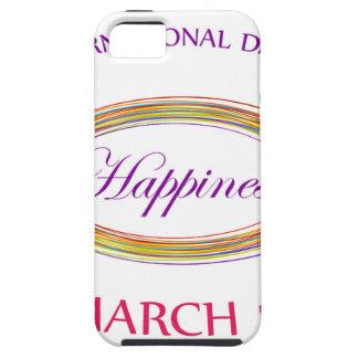 Día felicidad día del 20 de marzo conmemorativo iPhone 5 fundas