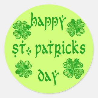 Día feliz 1 del St Patricks Etiqueta