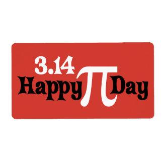 Día feliz 3 14 del pi - 14 de marzo etiqueta de envío