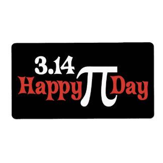 Día feliz 3 14 del pi - 14 de marzo etiquetas de envío