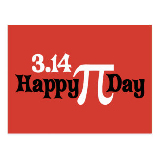 Día feliz 3,14 del pi - 14 de marzo postal