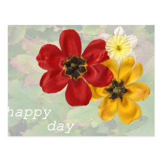 Día feliz 6 postal