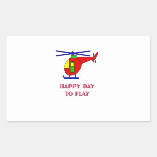 Día feliz a volar rectangular altavoces