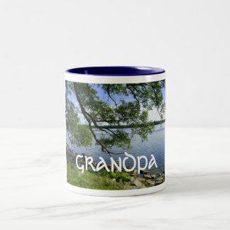 """Día feliz """"abuelo """" de los abuelos taza de dos tonos"""
