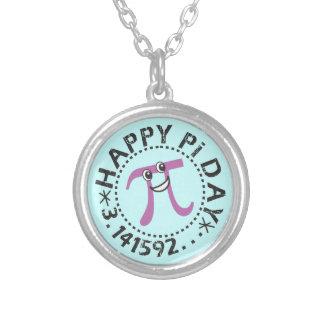 Día feliz azul lindo del pi - regalo del símbolo d grimpola personalizada