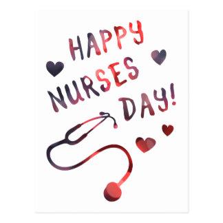 día feliz BOKEH de las enfermeras Postal