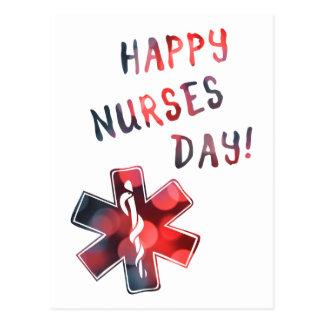 día feliz BOKEH de las enfermeras Postales