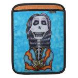 Día feliz colorido del esqueleto muerto funda para iPads