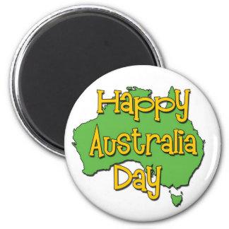 Día feliz de Australia Imanes Para Frigoríficos