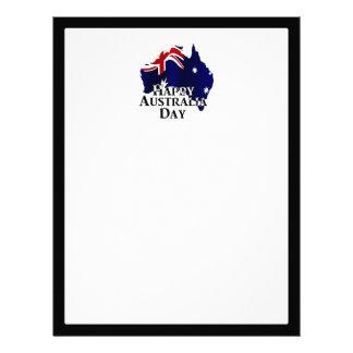 Día feliz de Australia Membrete