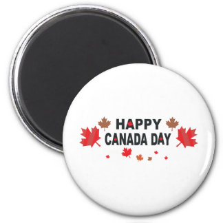 Día feliz de Canadá Imanes De Nevera