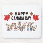 Día feliz de Canadá Tapete De Raton