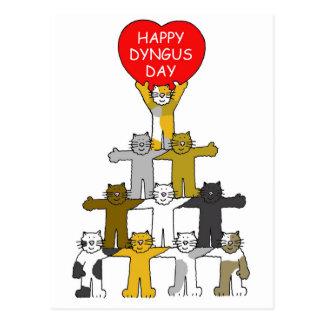 Día feliz de Dyngus con los gatos románticos Tarjetas Postales