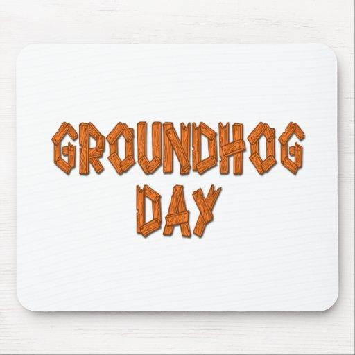 Día feliz de Groundhogs Tapete De Ratones