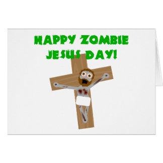 Día feliz de Jesús del zombi Felicitaciones