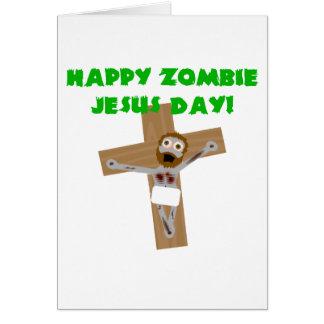 Día feliz de Jesús del zombi Felicitacion