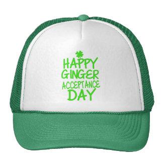 Día feliz de la aceptación del jengibre gorras