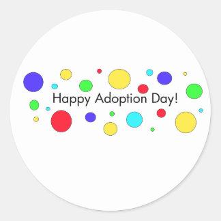 ¡Día feliz de la adopción Pegatina