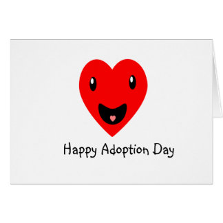 Día feliz de la adopción tarjeta